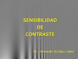Sensibilidad de Contraste.