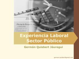 Experiencia Laboral Sector Público