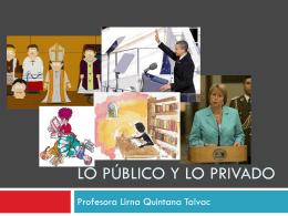 Lo publico y lo privado - Liceo Agricola Padre Francisco Napolitano