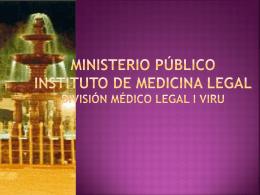 Ministerio Público de Medicina Legal