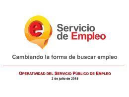 Descargar Operatividad Servicio Publico de Empleo