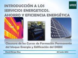 Introducción a los servicios energéticos