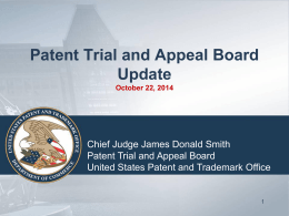 Brief PTAB Trial Overview 10 23 14