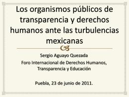 Los organismos públicos de transparencia y derechos humanos