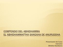Presentación del Curso Introductorio de Abhidhamma