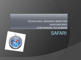 SAFARI presentacion. - joseig-1a