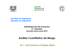Análisis Cuantitativo de Riesgo - Facultad de Ingeniería Campus I