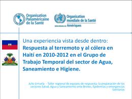 La experiencia de coordinación del sector agua