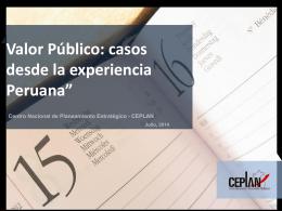 Tema 5. Valor publico casos desde la experiencia