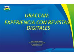 Experiencia de URACCAN con revistas electrónicas