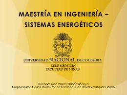 maestría en ingeniería * sistemas energéticos