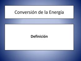 Conversión de la Energía