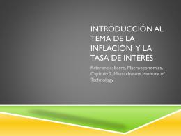 Introducción al tema de la inflación y la tasa de interés