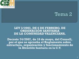 Tema 2 - Sindicato Médico de la Comunidad Valenciana CESM-CV.