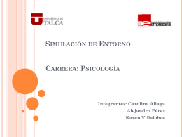 Simulación de Entorno Carrera: Psicología