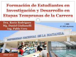 Formación de Estudiantes en Investigación y Desarrollo en Etapas