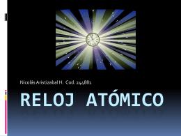 Reloj atómico