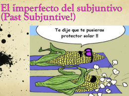 Notes- El imperfecto del subjuntivo