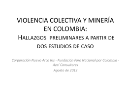 VIOLENCIA COLECTIVA Y MINERÍA EN COLOMBIA
