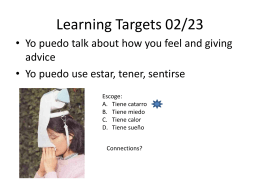 Learning Targets 02/11