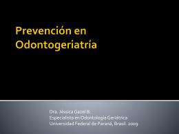 Prevención en Odontogeriatría