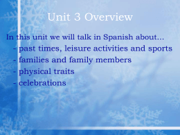Español I Hoy es martes, el 23 de enero