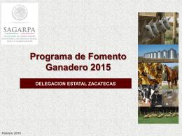 Fomento Ganadero - OEIDRUS Zacatecas
