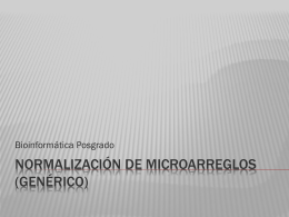 Microarrays Normalizacion MIDAS
