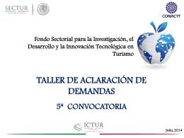 Fondo Sectorial - Secretaría de Turismo