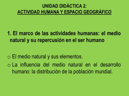 actividad humana y espacio geográfico