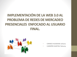 IMPLEMENTACIÓN DE LA WEB 3.0
