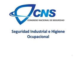 Seguridad Industrial e Higiene Ocupacional