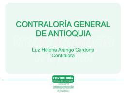 Diapositiva 1 - Contraloría General de Antioquia