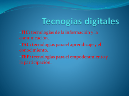 Tecnogias digitales