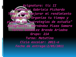 Asignatura: tic II Profesor: Gabriela pichardo tema - Brenda