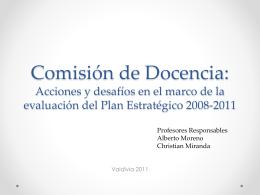 Comisión de Docencia: acciones y desafíos en el marco de la