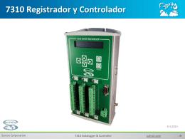 Registrador de Datos 7310 Presentación