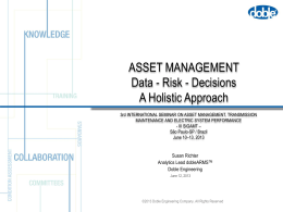 DOBLE ASSET RISK MANAGEMENT SYSTEM OVERVIEW