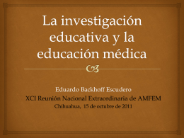 La investigación educativa y la medicina