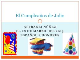 El Cumpleaño de Julio