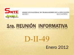 1ra. Reunión INFORMATIVA d-ii-49