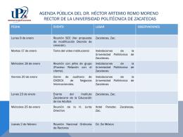 Agenda Pública del - Zacatecas Transparencia