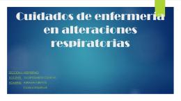 4. Alteraciones Respiratorias