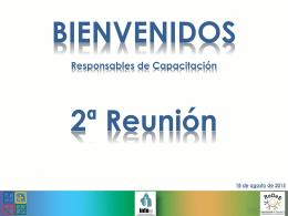 Presentación 2ª Reunión 2015