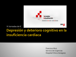 Depresión y deterioro cognitivo en la insuficiencia cardiaca