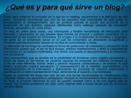 ¿Qué es y para qué sirve un blog?