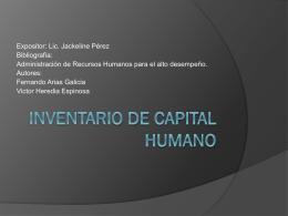 Inventario de Capital Humano