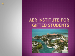 AER Institute For Gifted Students Direccions