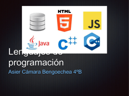 Lenguajes de programación - TICO
