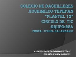 COLEGIO DE BACHILLERES XOCHIMILCO